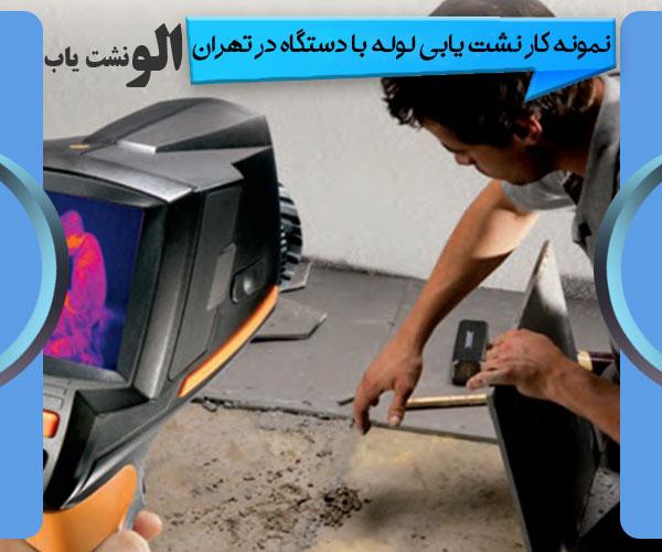 نمونه کار نشت یابی لوله با دستگاه در تهران